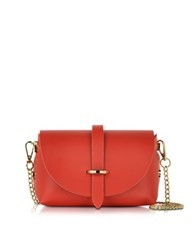 Le Parmentier Small Red Leather Shoulder Bag