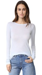 Enza Costa Bold Long Sleeve Crew Neck Tee Pale Blue