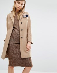 Gloverall Classic Chesterfield Coat Beige