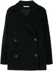 Dusan Double Breasted Fitted Coat Black