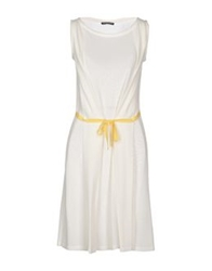Andreaturchi Knee Length Dresses White