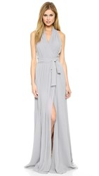 Joanna August Amber Halter Wrap Dress Silver Bells