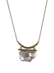 Monique Pean Diamond Pearl And White Gold Necklace