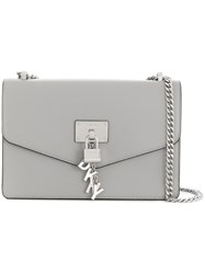 Donna Karan Elissa Large Shoulder Bag Grey