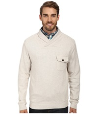 Pendleton L S Shawl Collar Board Pullover Oatmeal Heather Men's Long Sleeve Pullover Beige