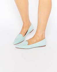 Asos Louisiana Pointed Ballet Flats Mint Green