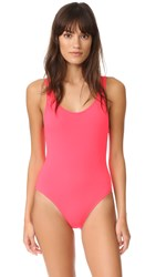 Solid And Striped The Anne Marie One Piece Neon Red