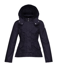 Moncler Ayrolette Hooded Raincoat Dark Blue Size 8 14 Size 12