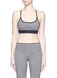 Koral 'Lucent' Lattice Back Sports Bra Top Grey