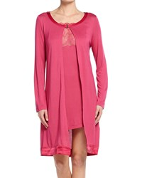 La Perla Iris Long Sleeve Short Robe Iris Pink Women's