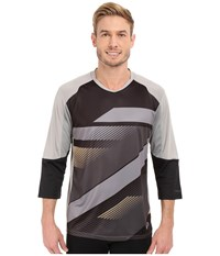 Pearl Izumi Launch 3 4 Sleeve Jersey Black Monument Grey Men's Clothing