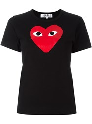 Comme Des Garcons Play Heart Print T Shirt Black