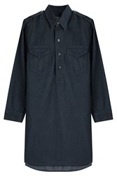 Polo Ralph Lauren Cotton Shirt Dress Blue