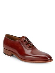 Carlos Santos Isabella Lace Up Leather Oxfords Taupe Shadow