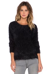 Generation Love Carly Feather Knit Sweater Black