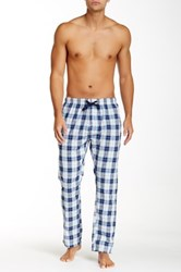 Bottoms Out Plaid Woven Sleep Pant White