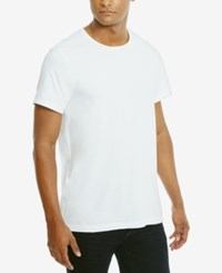 Kenneth Cole Reaction Men's Solid Cotton T Shirt White