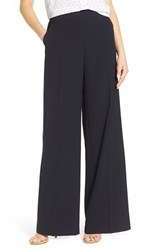 Women's James Jeans Pull On High Rise Wide Leg Trousers Midnight Crepe