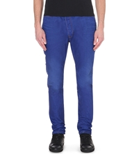 Vivienne Westwood Vw Asymmetric Jeans Blue Denim