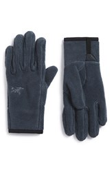 Men's Arc'teryx 'Delta' Midweight Fleece Gloves Gunmetal