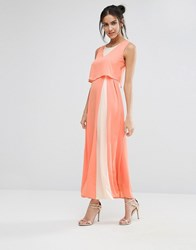 Jovonna Jovanna Eternity Maxi Dress With Overlay Top Pink