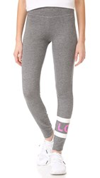 Sundry Love Stripes Yoga Pants Heather Grey