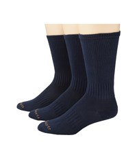 Carhartt Work Wear Flat Knit Crew Socks 3 Pack Navy Men's Crew Cut Socks Shoes