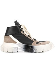 Rick Owens Lace Up Tractor Sneakers Black