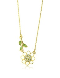 Juicy Couture Daisy And Vine Wish Necklace Gold