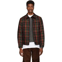 Burberry Red And Green Fleece Lined Check Hinckley Jacket