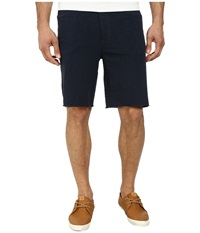 John Varvatos Five Pocket Jean Style Knit Short With Raw Cut Hem Marine Men's Shorts Blue