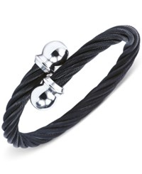 Charriol Unisex Celtic Black And Silver Tone Cable Bangle Bracelet