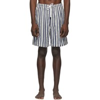 Solid And Striped Blue White Stripe The Long Classic Swim Shorts