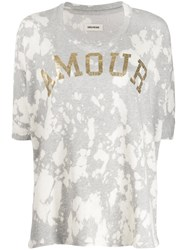 Zadig And Voltaire Amour Tie Dye T Shirt Grey