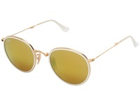 Ray Ban Rb3517 Folding 51Mm Gold Brown Mirror Gold Fashion Sunglasses