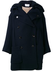 Chloe Double Breasted Coat Blue