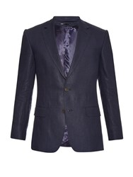 Gieves And Hawkes Notch Lapel Linen Jacket