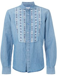 Ermanno Scervino Aztec Bib Denim Shirt Blue