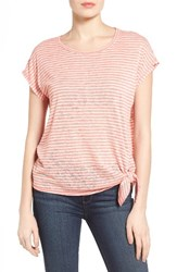Bobeau Women's Side Tie Top Coral Natural