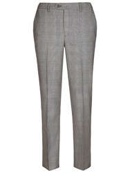 Hackett London Italian Prince Of Wales Check Super 120S Wool Suit Trousers Grey