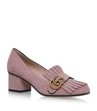Gucci Suede Marmont Loafers 55 Female Pink