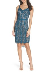 Harlyn High Low Hem Lace Cocktail Dress Teal