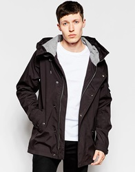 Bellfield Hooded Jacket With Flannel Lined Hood Black