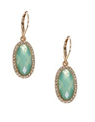 Lonna And Lilly Crystal Epoxy Stone Drop Earrings No Color