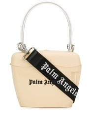 Palm Angels Contrast Logo Tote Neutrals