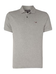 Barbour Men's 1894 Warkworth Short Sleeve Polo Grey Marl