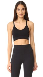 Lucas Hugh Core Technical Knit Adjustable Sports Bra Black