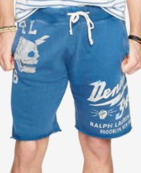 Denim And Supply Ralph Lauren French Terry Cutoff Shorts Blue