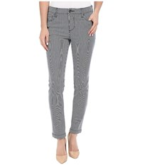 Kut From The Kloth Reese Ankle Straight Pinstripe Jeans In Navy Navy Women's Jeans