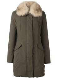 Peuterey Fox Fur Collar Coat Green